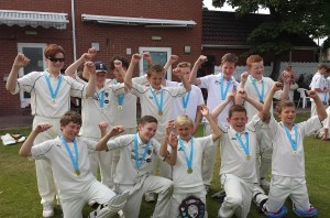 WINNERS...the year seven cricket team