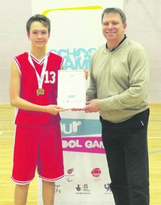 sport sadd school Y9 BB Elijah with Jeff