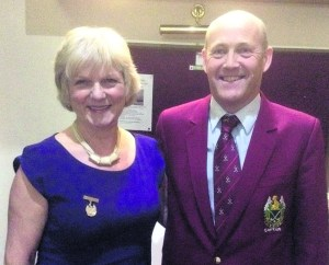 Lady Captain Pam Tomlinson and Captain Charles Nicholson