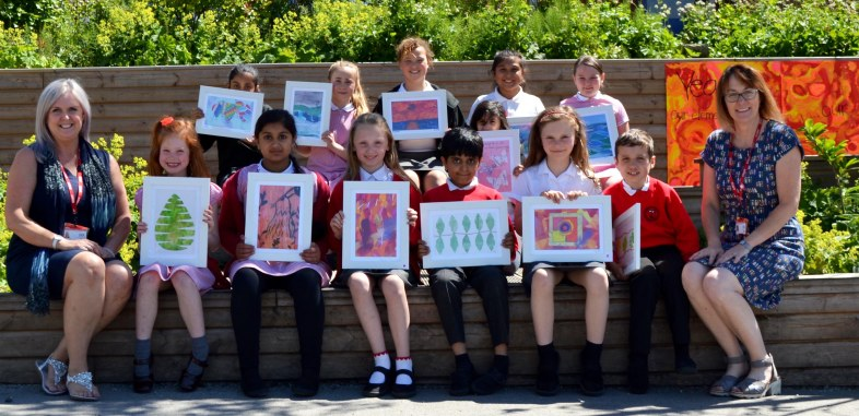 765 Knowsley kids with art
