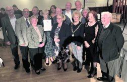 Award winners with Saddleworth Parish Council chair, Cllr Barbara Beeley and deputy Pam Byrne