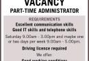 Job vacancy: part-time administrator for Bridges Estate Agents