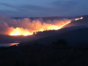 Castleshaw pic big fire