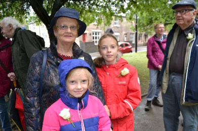 Cllr Barbara Beeley with grandaughters Olivia, left, and Isabel