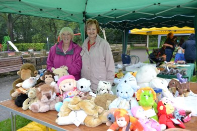 Cllr Pat Lord and Joan McLean, Saddleworth Parish Council chairman's charity fundraising committee members