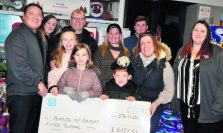 Co-op managers and staff with Friends of Bright Futures School receiving cheque for 6,101.51