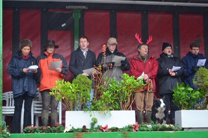 Special guests gather at the Horseman's Carol Service
