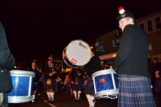 Oldham Scottish Pipe Band at Delph
