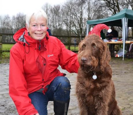 Viv with her dog Bertie