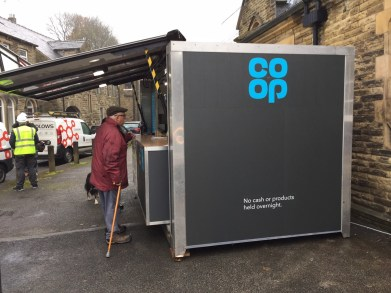 The pop up shop in Delph