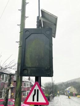 Denshaw sign Ripponden Road