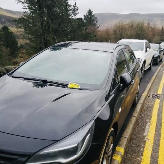 Dovestone Reservoir Greenfield parked cars