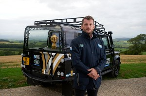 England and Sale Sharks legend Mark Cueto with Land Rover during a Rugby
