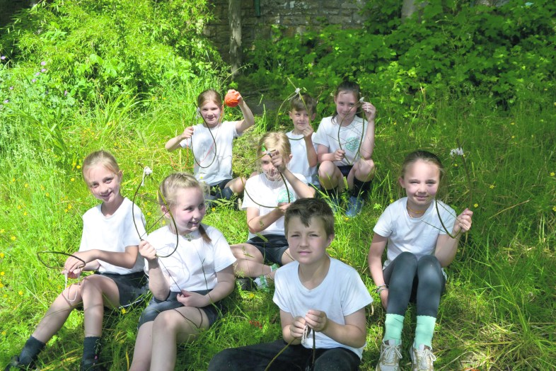Friezland Primary Forest Fun making dream catchers