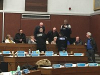 Oldham full council meeting descends into chaos as police called