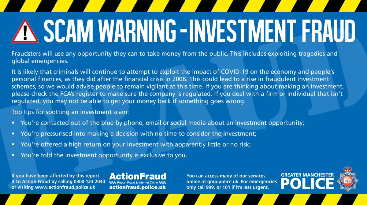 Gmp Warms Public To Be Vigilant To Money Scams Saddleworth Independent