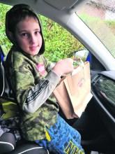 Jacob Sheldon en route to deliver bag to Mrs Bird