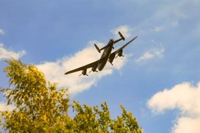 Lancaster flypast over Uppermill