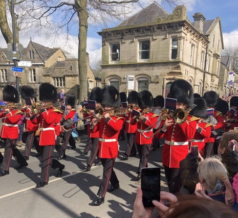 Marching in Uppermill