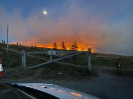 Marsden moor fire from Brun Cloygh Reservoir 25-04-21 by Saddleworth Independent (2)