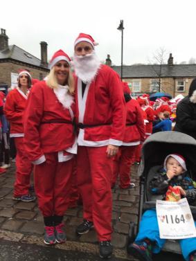 McDonal family taking part in their first Santa Dash
