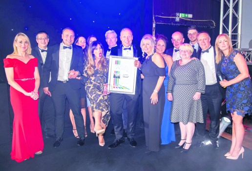 Oldham Business Awards 2019. PIC shows Business of the Year (£10m+) award winners The Jordon Group.