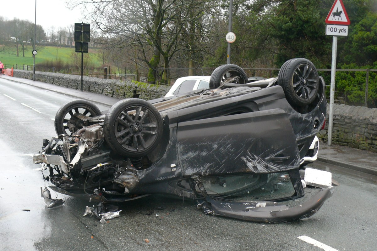 Early Morning Incident Leaves Car Overturned At Greenfield