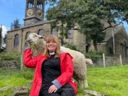 Rev Kate Bottley with animals