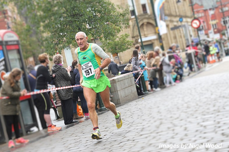 Tony Hillier of East Cheshire Harriers, was in the over-65 years section