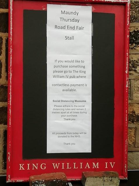 Road End Fair sign
