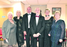Rosanne Fielding, Joan Sykes, Geoffrey Fielding, Paul Sykes, Barbara King and Lyn Hillier