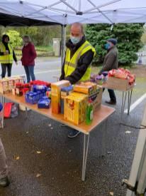 Rouble table foodbank dropoff