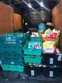 Rouble table foodbank dropoff3