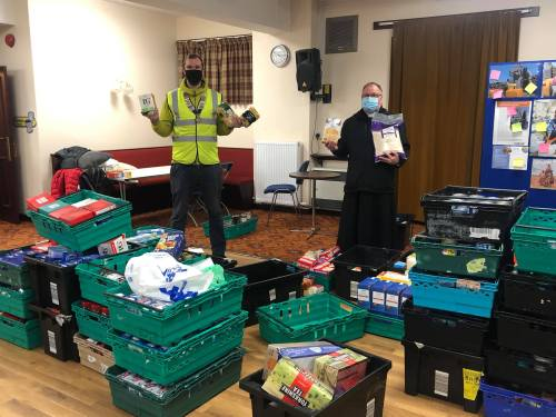 Rouble table foodbank dropoff4