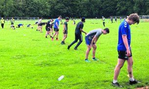 Saddleworth Rangers at training