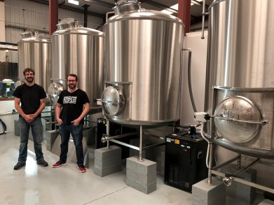 Steve and brewing vats