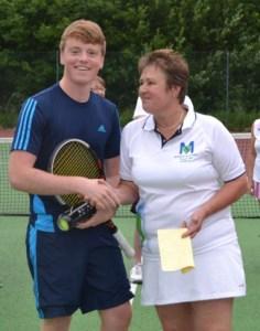 Tennis Tournament winner Richard Kiy