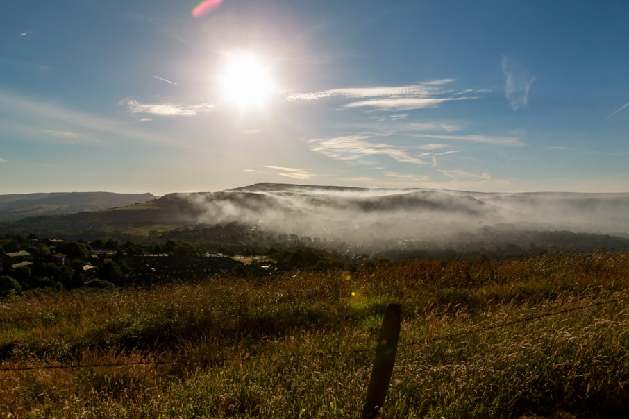 The eerie Moorland fire smog over Saddleworth and Mossley (Picture by Carl Royle)