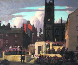Unveiling of the War Memorial, Oldham, April 28th 1923