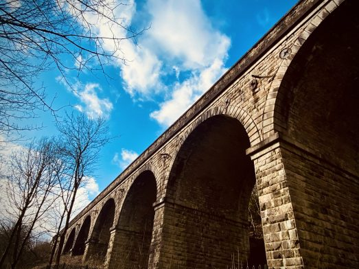Viaduct above Den Lane, Uppermill