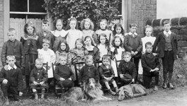 Children outside the Sanitorium