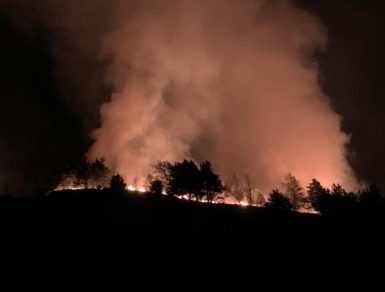 The fire at Dovestone (Pic: GMFRS)