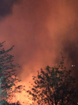 fire from Ladcastle Road