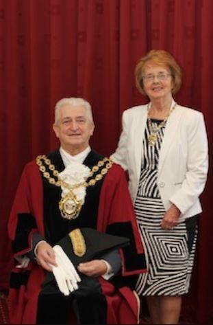 Mayor and Mayoress John and Kathleen Hudson