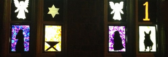 Previous window displays for the living advent calendar in Uppermill