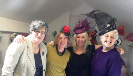 Talented milliners Liz, Sue, Barbara and Til