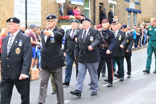 Veterans in the parade