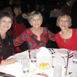 Nancy Gearhard, Eileen Halk and Marcia Munich enjoy the Unit 21's Ladies Holiday Luncheon at Fleming's Prime Steakhouse.