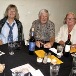 Donna and Colin Barnard and Sue Gehlbach enjoy the Unit 21's dinner at The Oracle Patio Cafe.