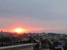 Sunset view from the rooftop of the Rosemont Hotel